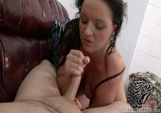 cute bitch masturbates an oriental boy until he