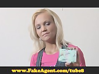 fakeagent older blond does anal in casting