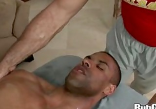 rubgay muscule guy massage