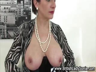 nylons older lady sonia in sexy underware