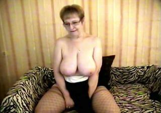 breasty cougar at play -nh