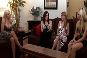 girl enticed into lesbo sex by older woman belt on