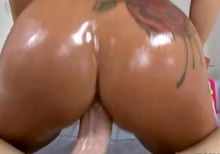 sexy dark brown with massive pierced love muffins