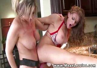 ruthless lesbo can anal bonks