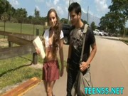 perverted legal age teenager worships older shlong